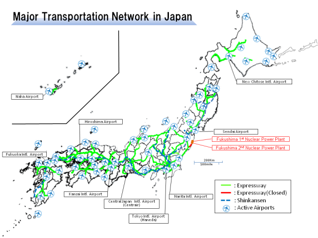 Japan Transportation Map